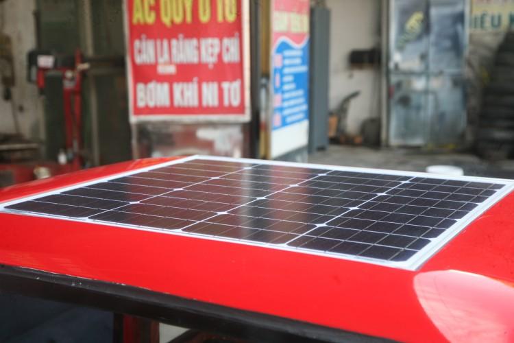 Cận cảnh ô tô tự chế chạy bằng năng lượng mặt trời